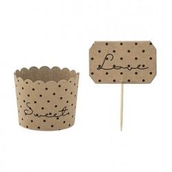 Moules à muffin en carton, par 8