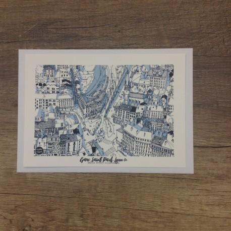 Carte postale Gare Saint Paul