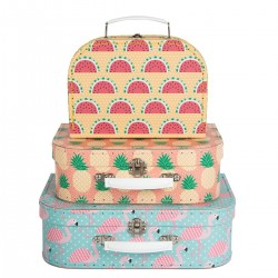 Valise Flamants roses - gand format