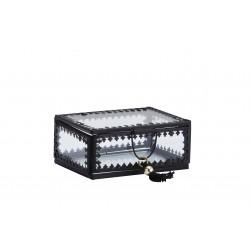 Mini boîte en verre berbère noir