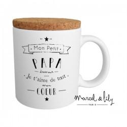 Mug avec couvercle Papa d'amour