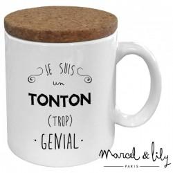 Mug avec couvercle Tonton trop génial