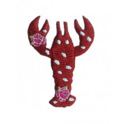 Badge brodé homard