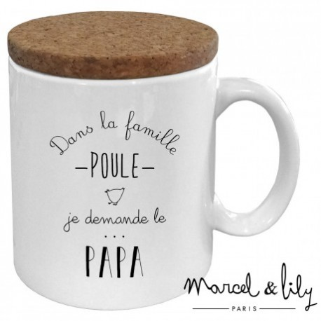 "Mug avec couvercle ""Papa poule"""