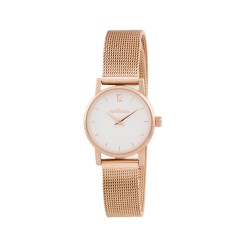 Montre Simone Maille milanaise - or rose/cad.blanc