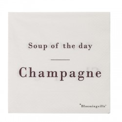 Serviettes en papier Soup of the day