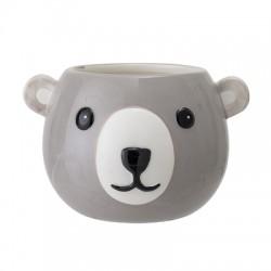 Pot tête d'ourson gris