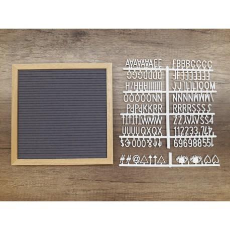Letter board carré - gris