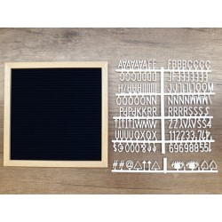 Letter board carré - night blue