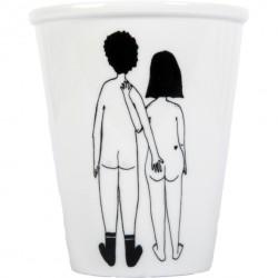 Tasse Couple nu de dos