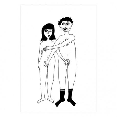Carte Couple nu