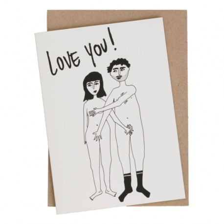 Carte double Love you Couple nu