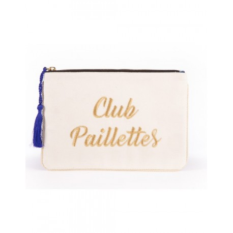 Pochette brodée Club paillettes