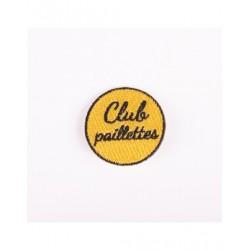 Badge brodé club paillettes