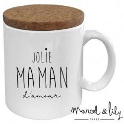 Mug avec couvercle Jolie maman d'amour