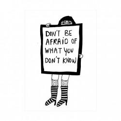 Affiche Don't be afraid