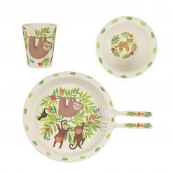 Set de vaisselle en bambou Singe