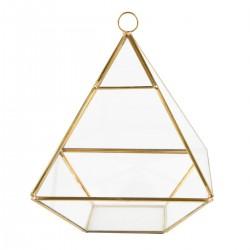 Terrarium pyramide en laiton