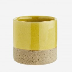 Mini pot en terre cuite et jaune