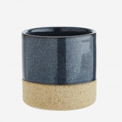 Mini pot en terre cuite et bleu foncé