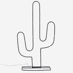 Cactus noir lumineux