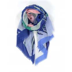 Foulard Tropical - bleu