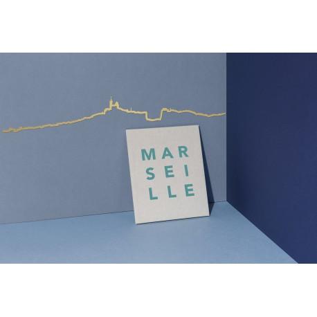 Silhouette de Marseille - doré