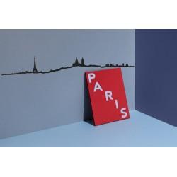 Silhouette de Paris noir - Grand format