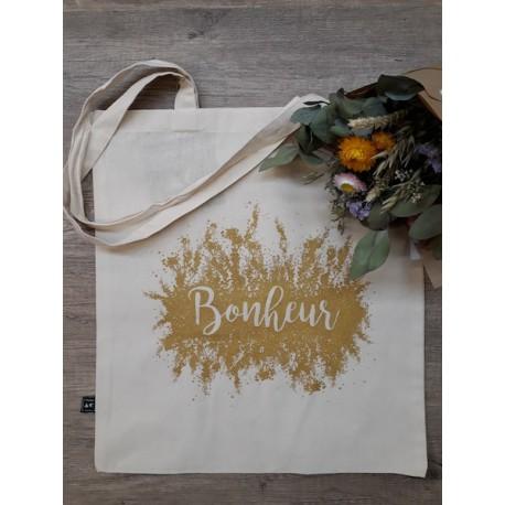 Tote-bag Bonheur - or