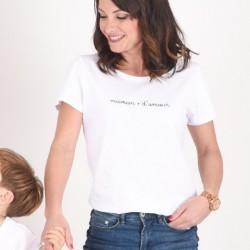 T-shirt Maman d'amour Marinière - Taille S