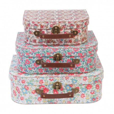 "Set de 3 valises ""Jardin anglais"""